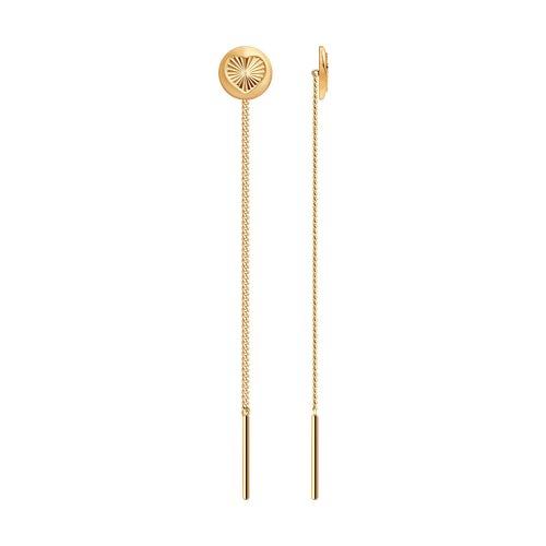 цена на Серьги-цепочки SOKOLOV из золота с алмазной гранью