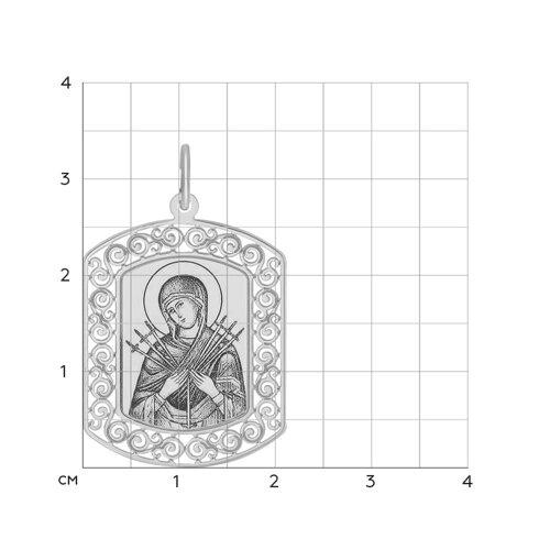 Иконка из серебра с лазерной обработкой (94100208) - фото №2