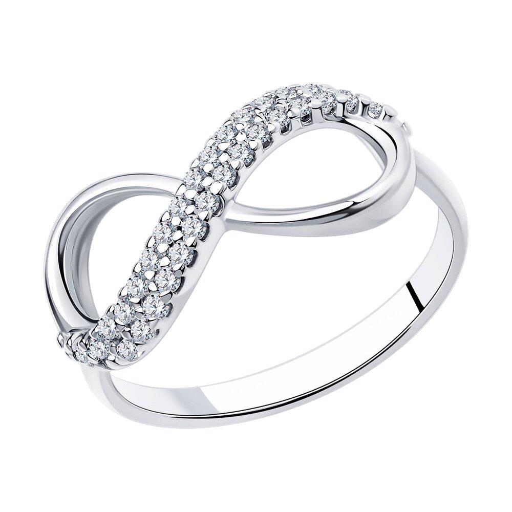 Кольцо «Бесконечность» SOKOLOV из серебра с фианитами фото