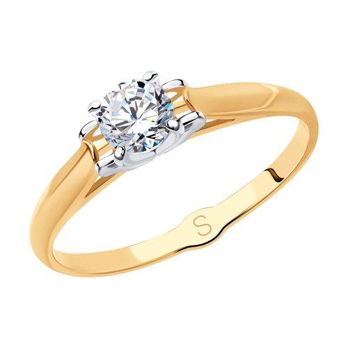 Кольцо из золота со Сваровски 81010387 sokolov фото