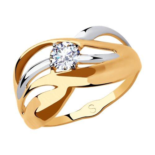 Кольцо из золота с фианитом