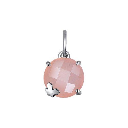 цена на Серебряный кулон с розовым агатом SOKOLOV