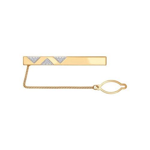 Зажим для галстука из красного золота (090044) - фото