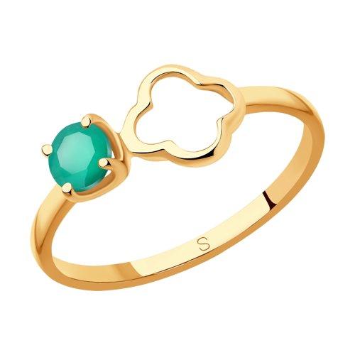 Кольцо из золота с агатом (715906) - фото