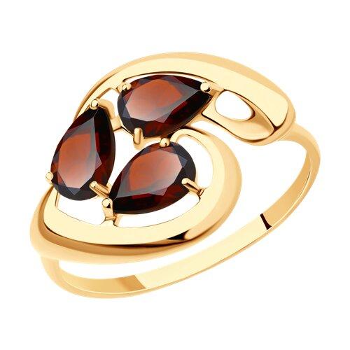 Кольцо из золота с гранатами (714627) - фото