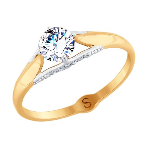 Кольцо из золота со Swarovski Zirconia (81010364) - фото