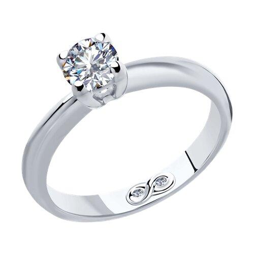 Кольцо из белого золота с бриллиантами (9010061) - фото