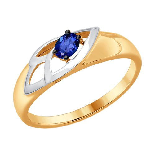 Кольцо из золота с сапфиром (2011055) - фото