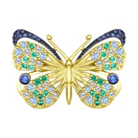Брошь из жёлтого золота «Бабочка»