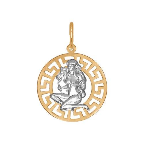 Подвеска «Знак зодиака Дева» из золота (031299) - фото