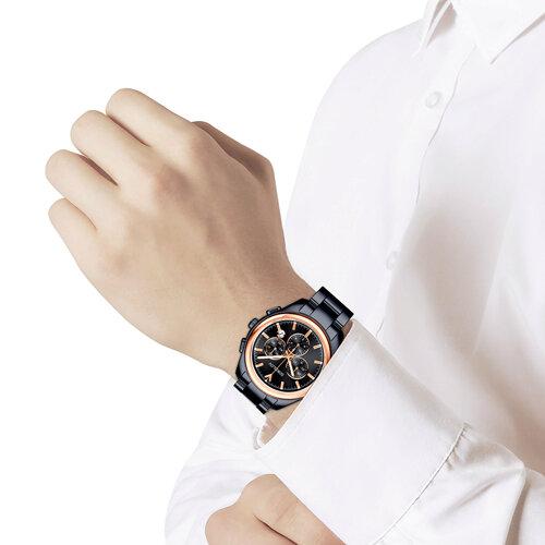 Мужские часы из золота и стали Black Edition (139.01.72.000.03.01.3) - фото №3