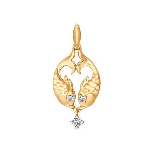 Золотой кулон «Знак зодиака Рыбы» SOKOLOV магия золота золотой кулон mg127351