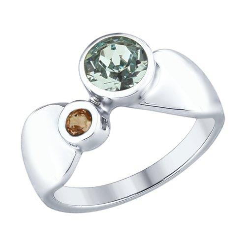 Кольцо из серебра (94012372) - фото