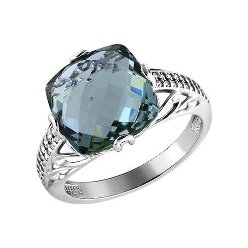 Роскошное кольцо с кварцем