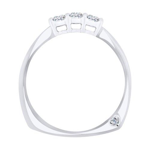 Кольцо из белого золота с бриллиантами (1011691) - фото №2