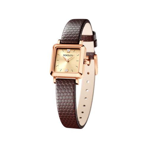 Женские золотые часы (231.01.00.000.06.07.2) - фото