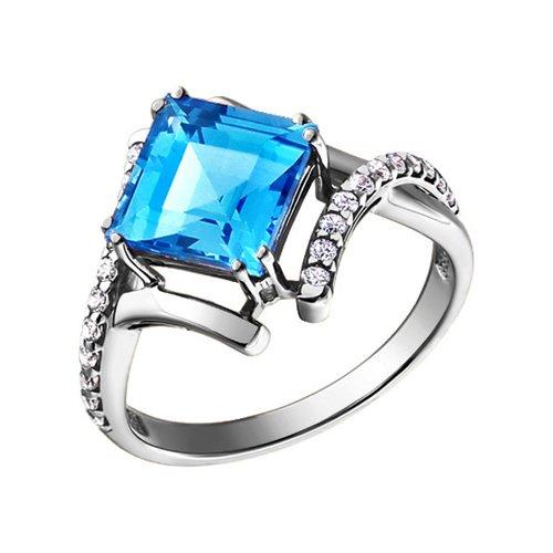Белое кольцо с топазом SOKOLOV