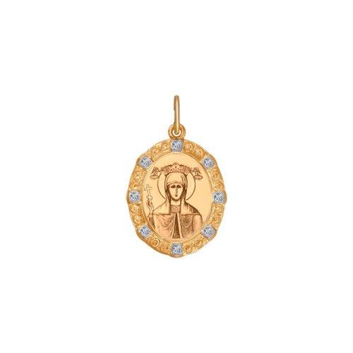 Золотая иконка «Святая великомученица Параскева Пятница» SOKOLOV