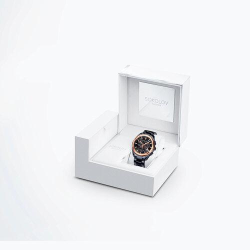 Мужские часы из золота и стали Black Edition (139.01.72.000.03.01.3) - фото №4