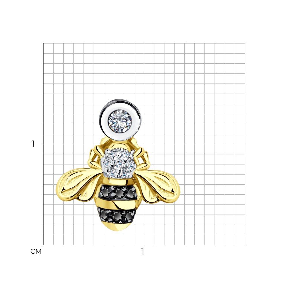 Фото - Подвеска SOKOLOV из желтого золота с бриллиантами и черными облагороженными бриллиантами подвеска sokolov из желтого золота с бриллиантами и черными облагороженными бриллиантами