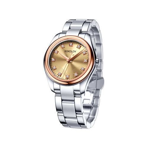 Женские часы из золота и стали (140.01.71.000.03.01.2) - фото
