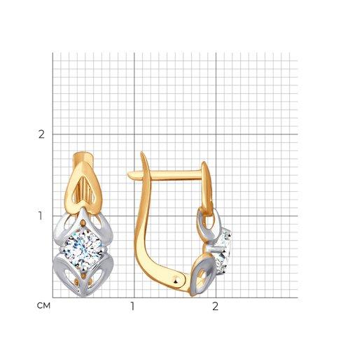Серьги из золота с фианитами 027689 SOKOLOV фото 2