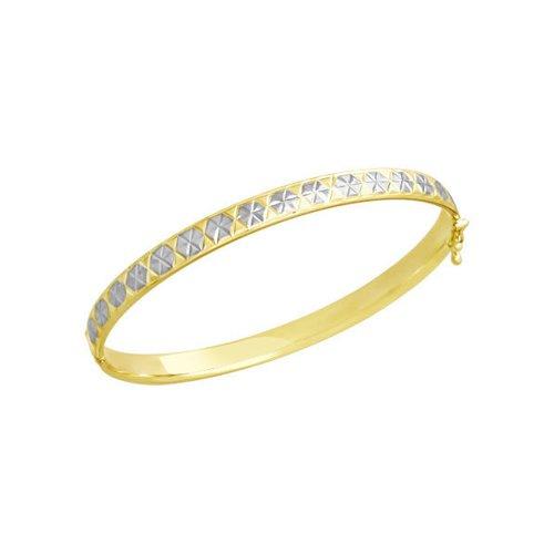 Браслет из желтого золота с алмазной гранью (050368-2) - фото