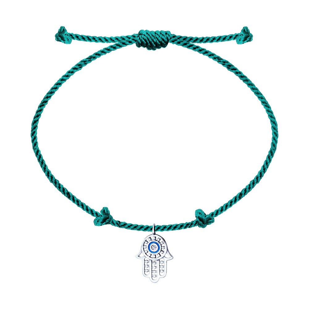 Браслет «Хамса» с серебром, эмалью и фианитом SOKOLOV браслеты с серебром и эмалью sokolov