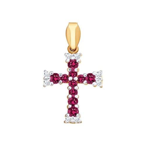 Женский золотой крестик