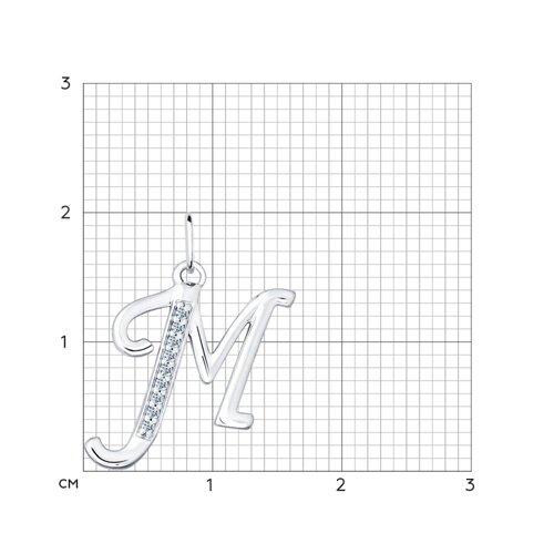 Кулон буква «М» (94031371) - фото №2
