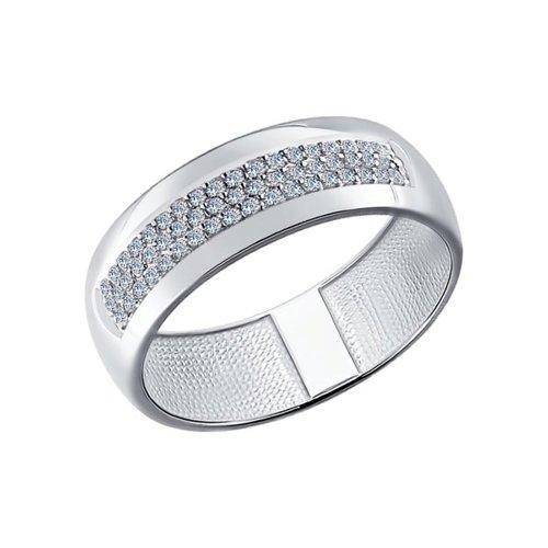 цена на Обручальное кольцо SOKOLOV из белого золота с бриллиантами