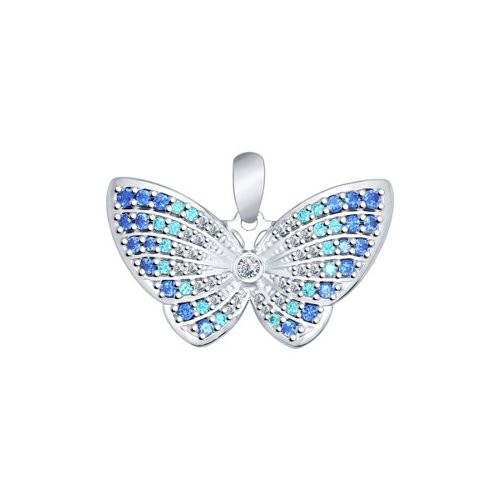 Подвеска в виде бабочки SOKOLOV из серебра цена и фото