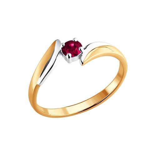 Фото - Золотое кольцо с рубином SOKOLOV кольцо золотое с рубином и дорожками бриллиантов sokolov