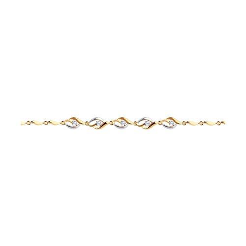 Браслет из золота с фианитами (051070) - фото