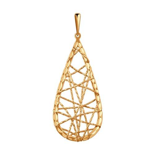 Подвеска из золота с алмазной гранью (035903) - фото