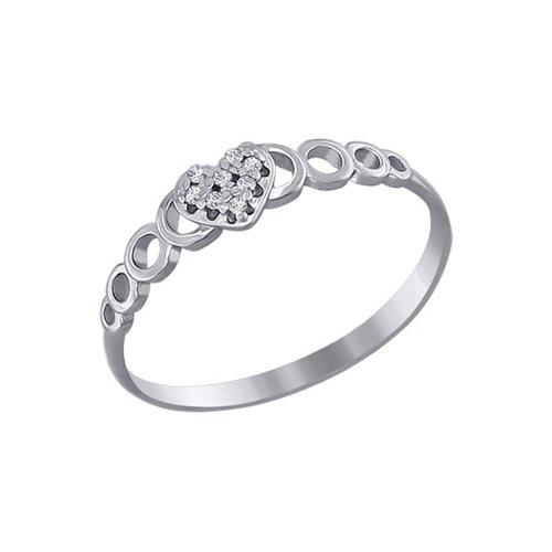 Кольцо love SOKOLOV из белого золота с фианитами кольцо sokolov из золота love you