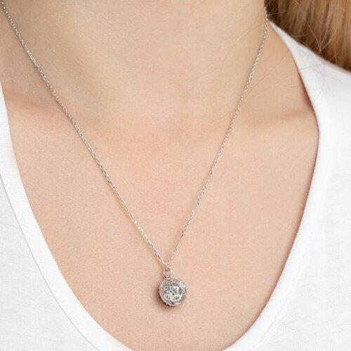 Колье из серебра с фианитами (94070117) - фото №5