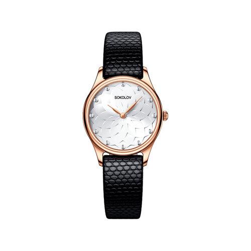 Женские золотые часы (238.01.00.000.08.01.2) - фото №2