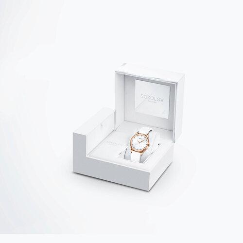 Женские золотые часы (238.01.00.000.08.02.2) - фото №4
