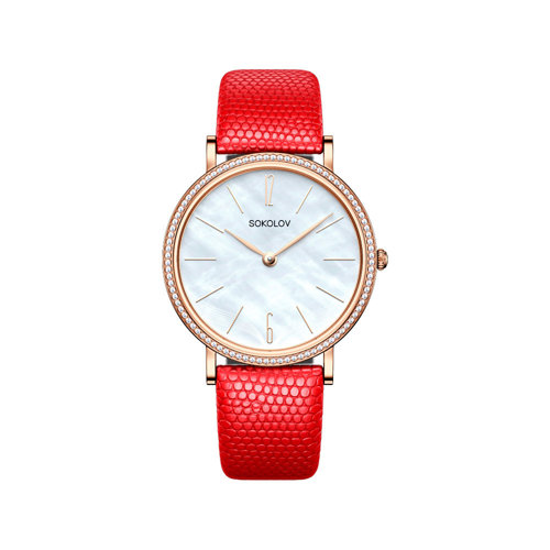 Женские золотые часы (210.01.00.001.06.04.2) - фото №2