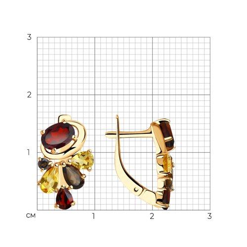 Серьги из золота с полудрагоценными вставками 725880 SOKOLOV фото 2