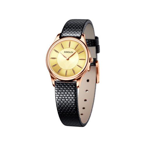 Женские золотые часы (238.01.00.000.05.01.2) - фото