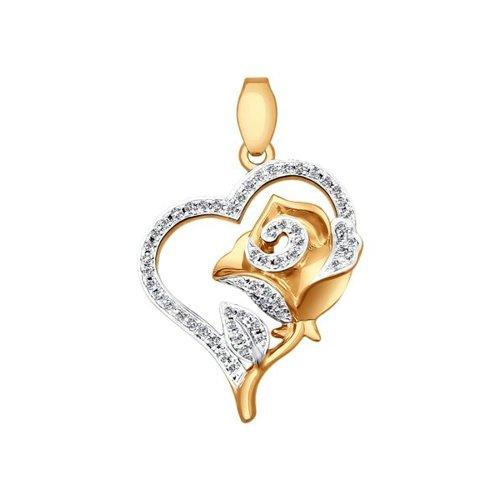 купить Кулон «Роза» с бриллиантами дешево