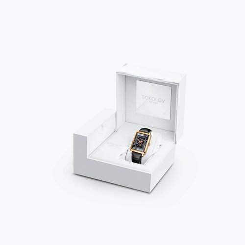 Мужские золотые часы (233.02.00.000.02.01.3) - фото №4