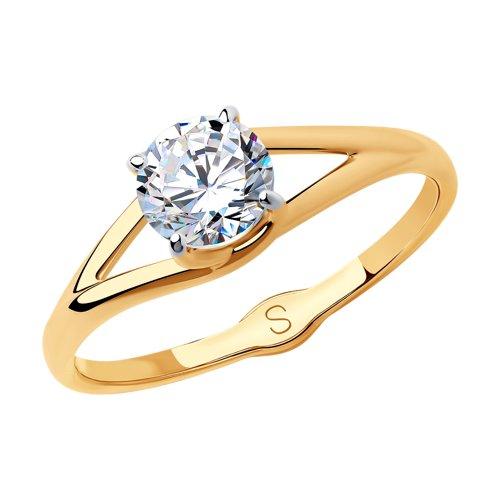 Кольцо из золота со Swarovski Zirconia (81010432) - фото