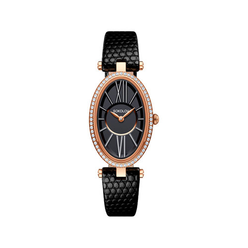 Женские золотые часы (236.01.00.001.02.01.2) - фото №2
