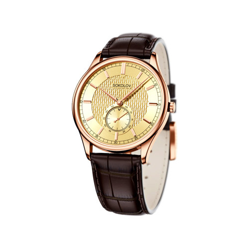Мужские золотые часы (237.01.00.000.04.02.3) - фото