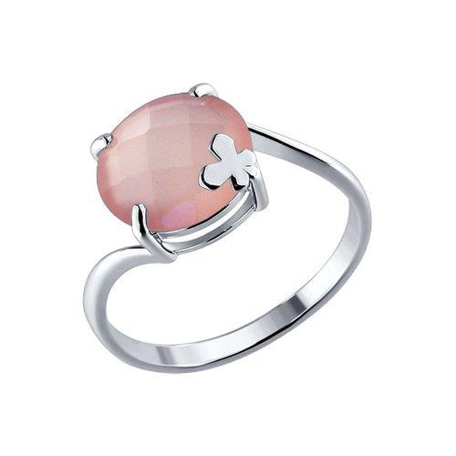 Серебряное кольцо с розовым агатом