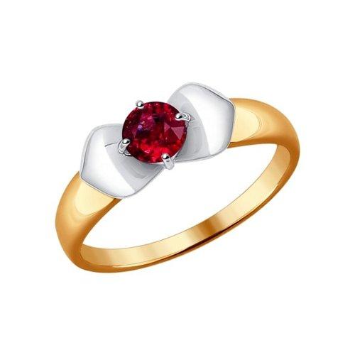 Кольцо из комбинированного золота с рубином