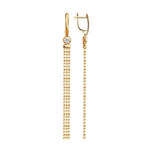 Серьги из золота с бриллиантами (1021400) - фото